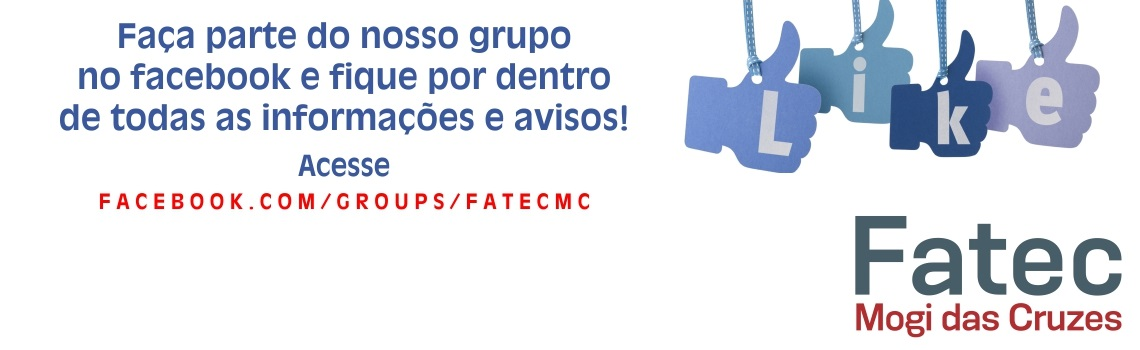 O texto 'Participe do Grupo ' e as regras para poder participar do grupo da FATEC.
